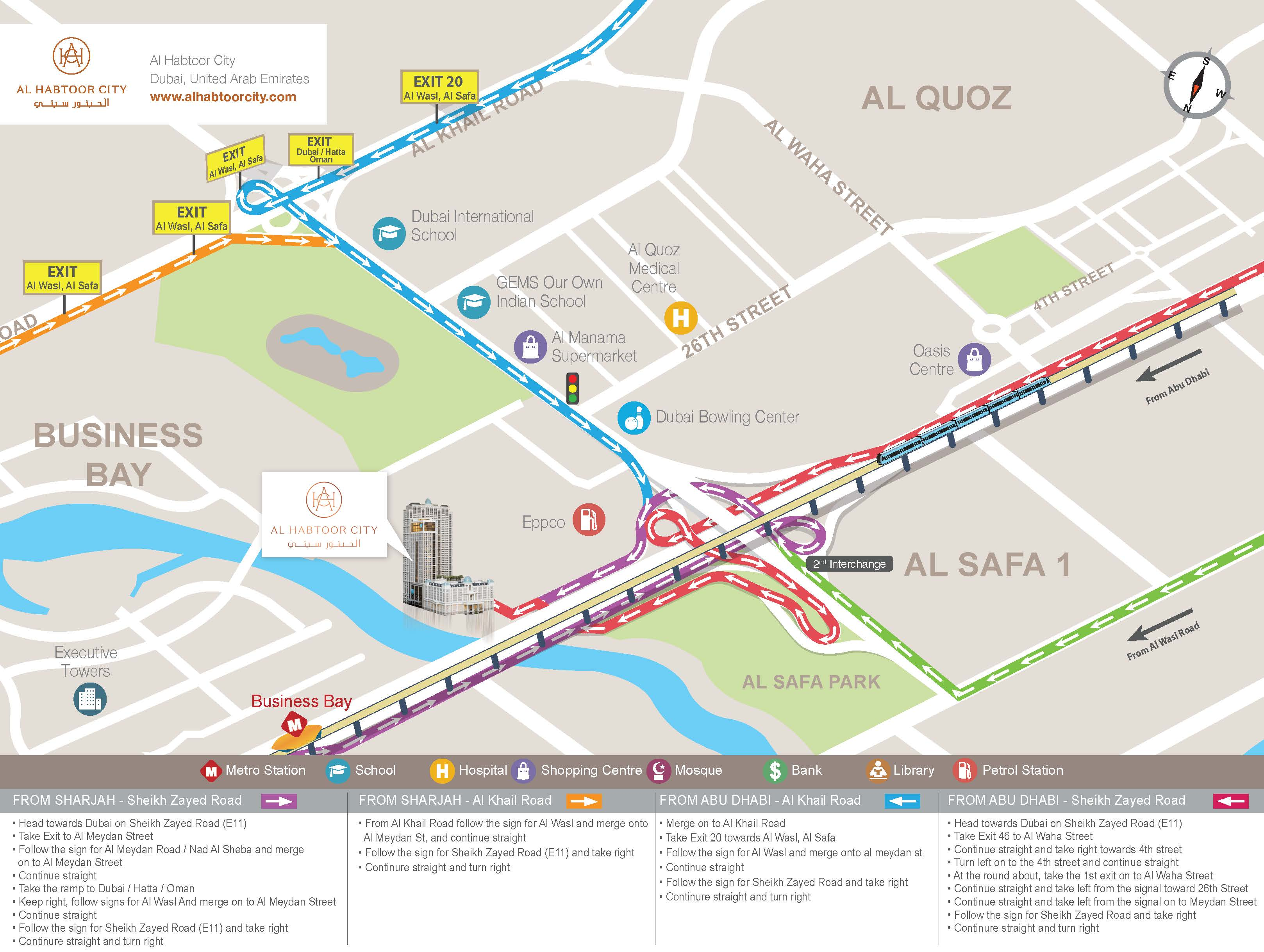 Arrival Information to the St Regis Hotel in Dubai – Abu Dhabi Dubai Map